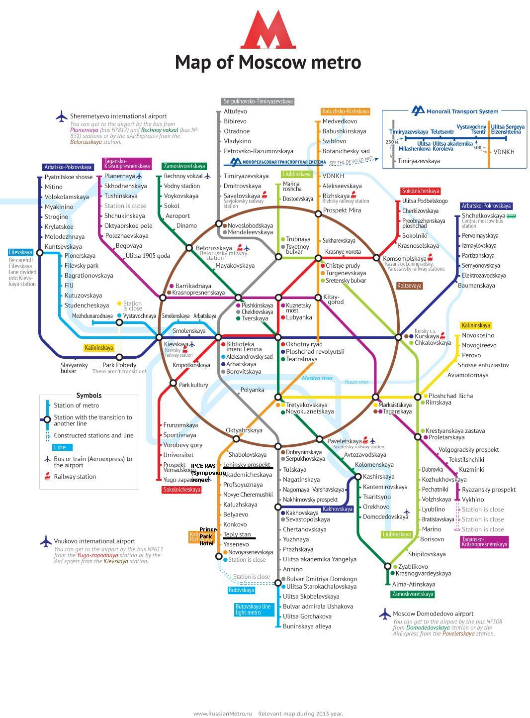 The Moscow metro map